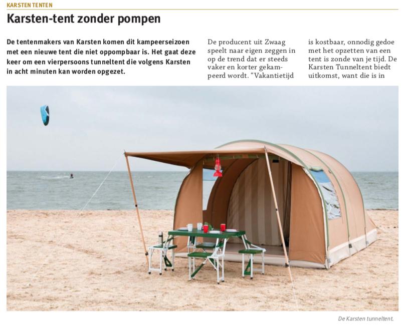 Zuid Koreanen kunnen kamperen in tenten uit Zwaag